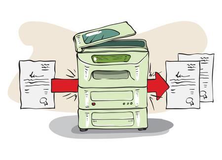Copy Machine copies some documents