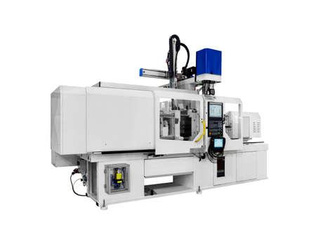 Photo for Production machine for manufacture products from pvc plastic extrusion technology - Royalty Free Image