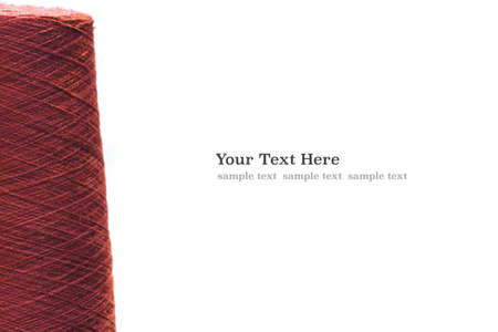 Photo pour Red violet reels of threads. web banner template background with copy space - image libre de droit