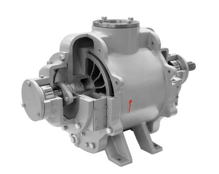 Photo pour Industrial high-pressure water two-way entry pump prepared, Isolated on white background. - image libre de droit