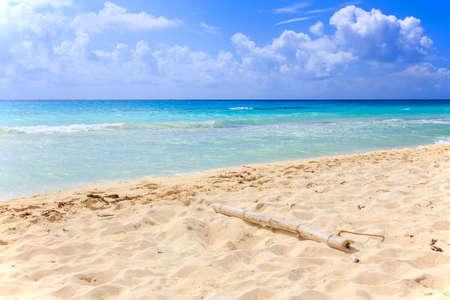 Caribbean sea scenery in Playacar   Playa Del Carmen  , Mexico