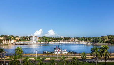 Harbor of Santo Domingo in Dominican Republic