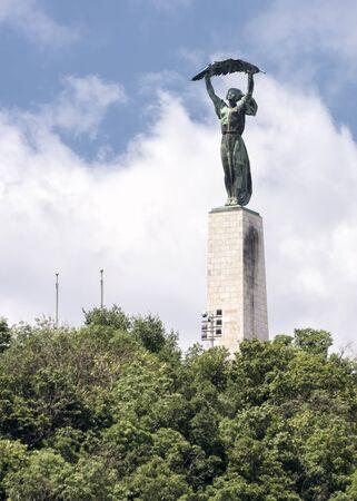 Liberty Statue On Top Of Gellert Hill, Budapest, Hungary