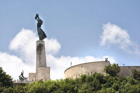 Liberty Statue On Gellert Hill, Budapest, Hungary