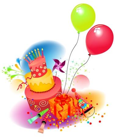 Vektor für Birthday set  - Lizenzfreies Bild