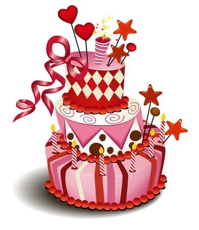 Big pink cake