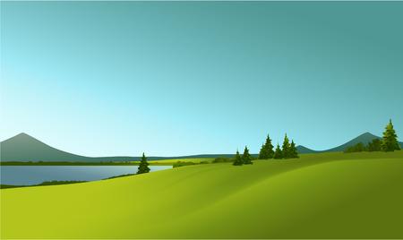 Illustration pour rural landscape - image libre de droit