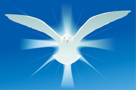 Illustration pour Holy spirit symbol - image libre de droit