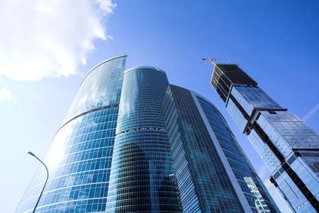 New skyscrapers business centre in moscow city, russia