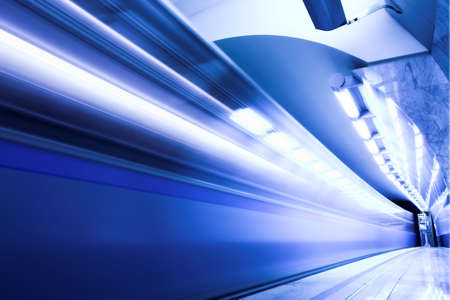 Fast train subway hall platform