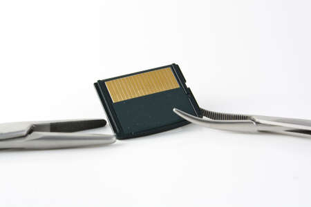 Surgical clamps and memory card