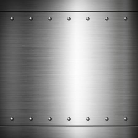 Photo pour Steel riveted brushed plate background texture - image libre de droit