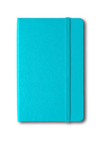 Photo pour Aqua blue closed notebook mockup isolated on white - image libre de droit