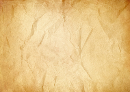 Foto de Old brown crumpled paper texture background. Vintage wallpaper - Imagen libre de derechos