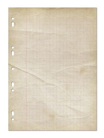 Foto de Old worn lined paper sheet texture background. - Imagen libre de derechos