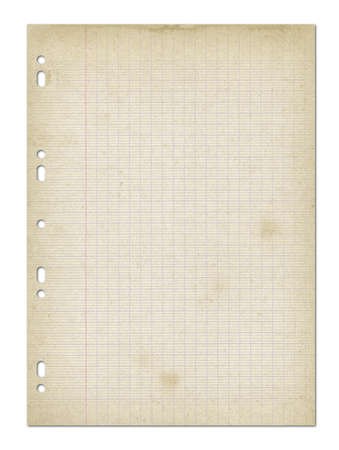 Photo pour Old worn lined paper sheet texture background. - image libre de droit