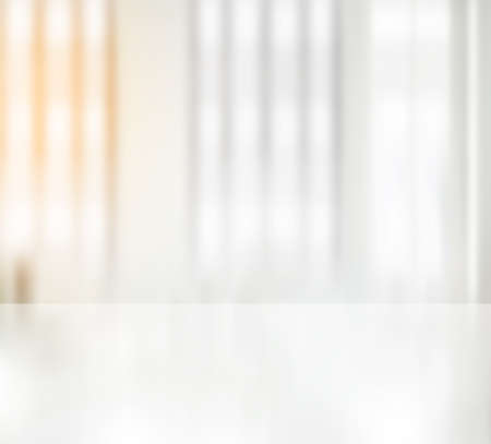Photo pour Clean white office desk blurry. Background wallpaper - image libre de droit