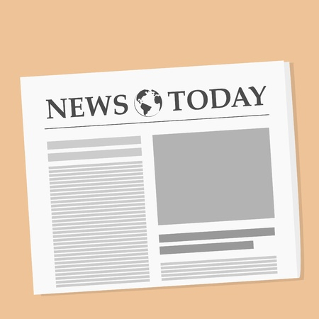 Vector illustration of daily newspaper on the table