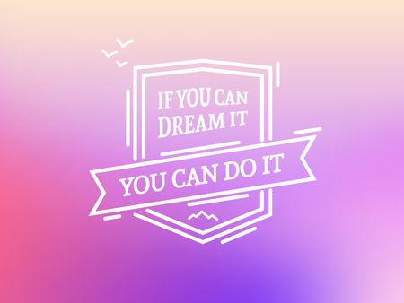 Illustration for You can do it vector badge - Royalty Free Image