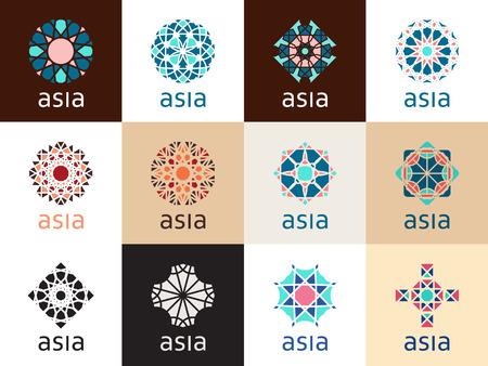 Illustration pour Oriental geometric symbols - image libre de droit
