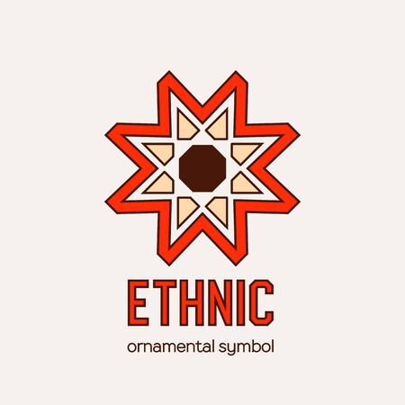 Illustration for Vector Mosaic Ethnic Emblem - Royalty Free Image