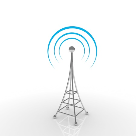 Mobile antena. Communication concept