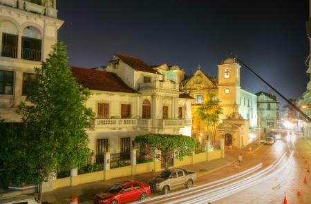 Panama City, Casco Viejo in the night