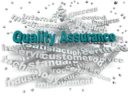 3d image Quality Assurance word cloud concept