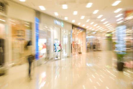 Mall interior. Blurred motion image
