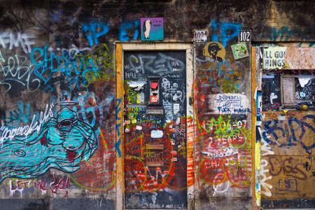 Wall painted graffiti in Amsterdam