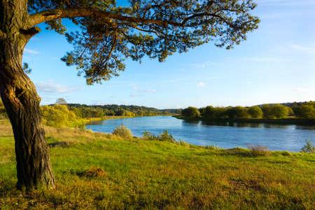 September landscape of Neris River in Lithuania