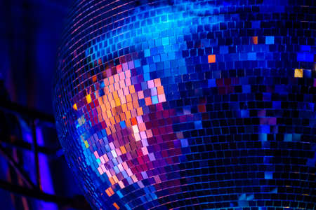 Photo for Disco mirror ball at the night club party - Royalty Free Image