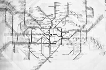 London map blurred.