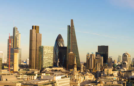Photo for New Skyline of London at sunset. - Royalty Free Image