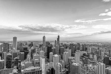 Foto de Aerial View of the Chicago skyline. - Imagen libre de derechos
