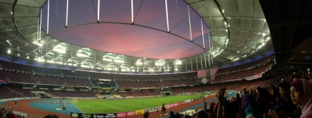 Sunset before final football match between Johor Darul Takzim and Kelantan