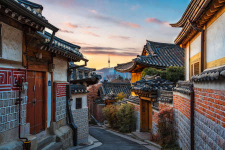 Photo for Bukchon Hanok Village of seoul city in  Korea. - Royalty Free Image