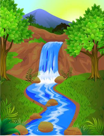 Foto de Beautiful waterfall - Imagen libre de derechos