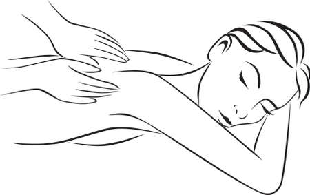 Illustration for spa and massage treatment - Royalty Free Image