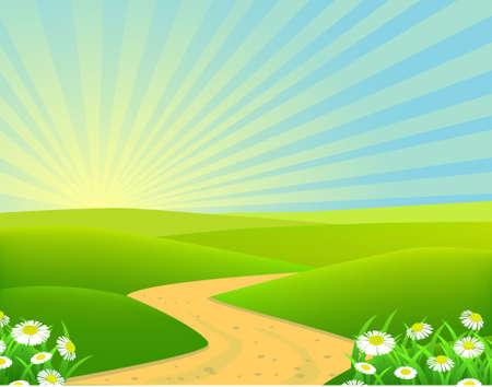 Illustration pour beautiful landscape background - image libre de droit