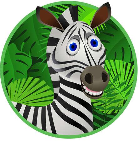 Ilustración de Zebra cartoon - Imagen libre de derechos