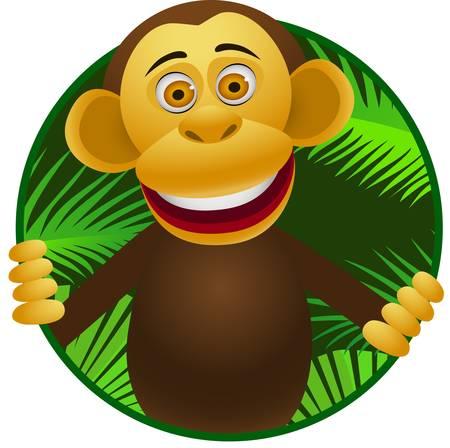 Ilustración de chimpanzee cartoon - Imagen libre de derechos