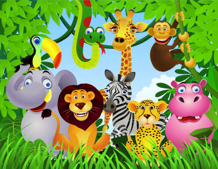 Ilustración de animal cartoon - Imagen libre de derechos