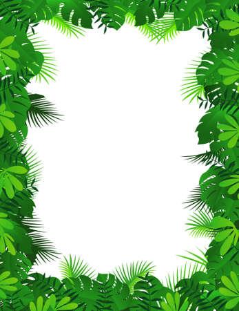 Forest frame background