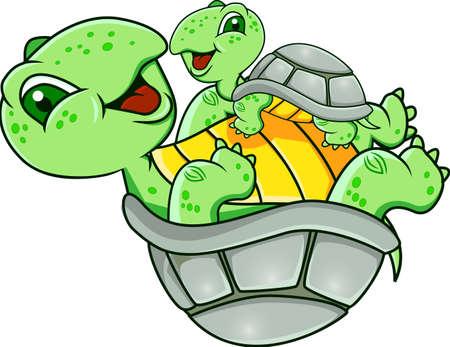 Illustration pour Funny turtle  - image libre de droit