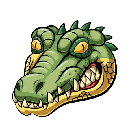 Illustration pour Angry alligator head mascot design - image libre de droit