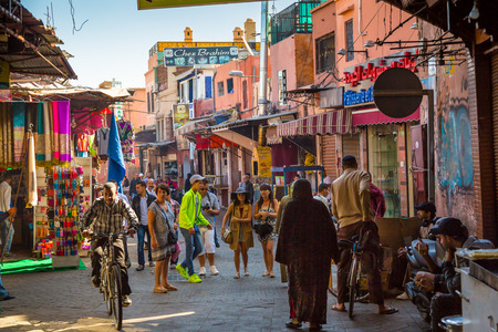 A typical atmosphere in the streets of the old Marrakech medina