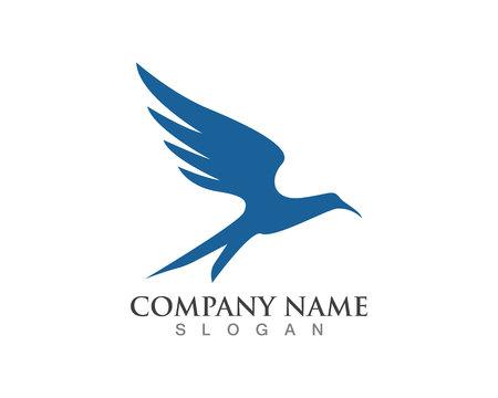Vector - Vector sign abstract bird in flightHummingbird Logo Template