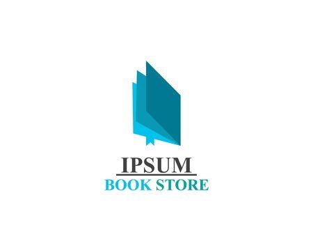 Illustration pour Book Store logo illustration template vector - image libre de droit