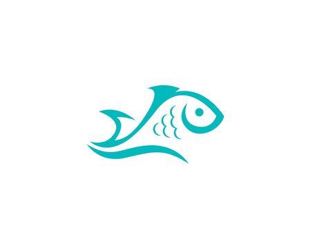 Illustration pour Fish logo template Creative vector symbol - image libre de droit